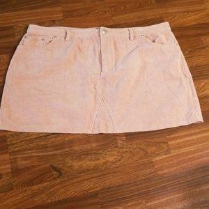 Forever 21 Corduroy Rose Mini Skirt Sz. 20